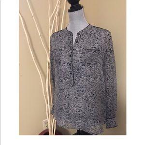 Cynthia Rowley sheer long sleeve blouse size small